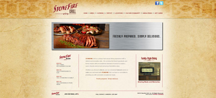 stonefire grill website