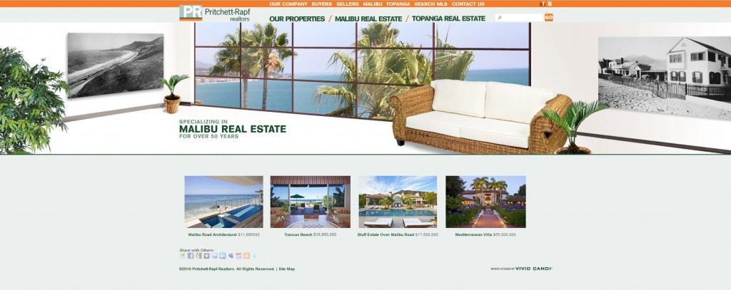 pritchett-rapf real estate homepage