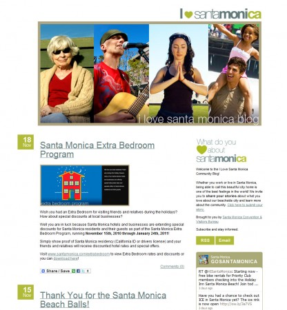 santa monica blog website