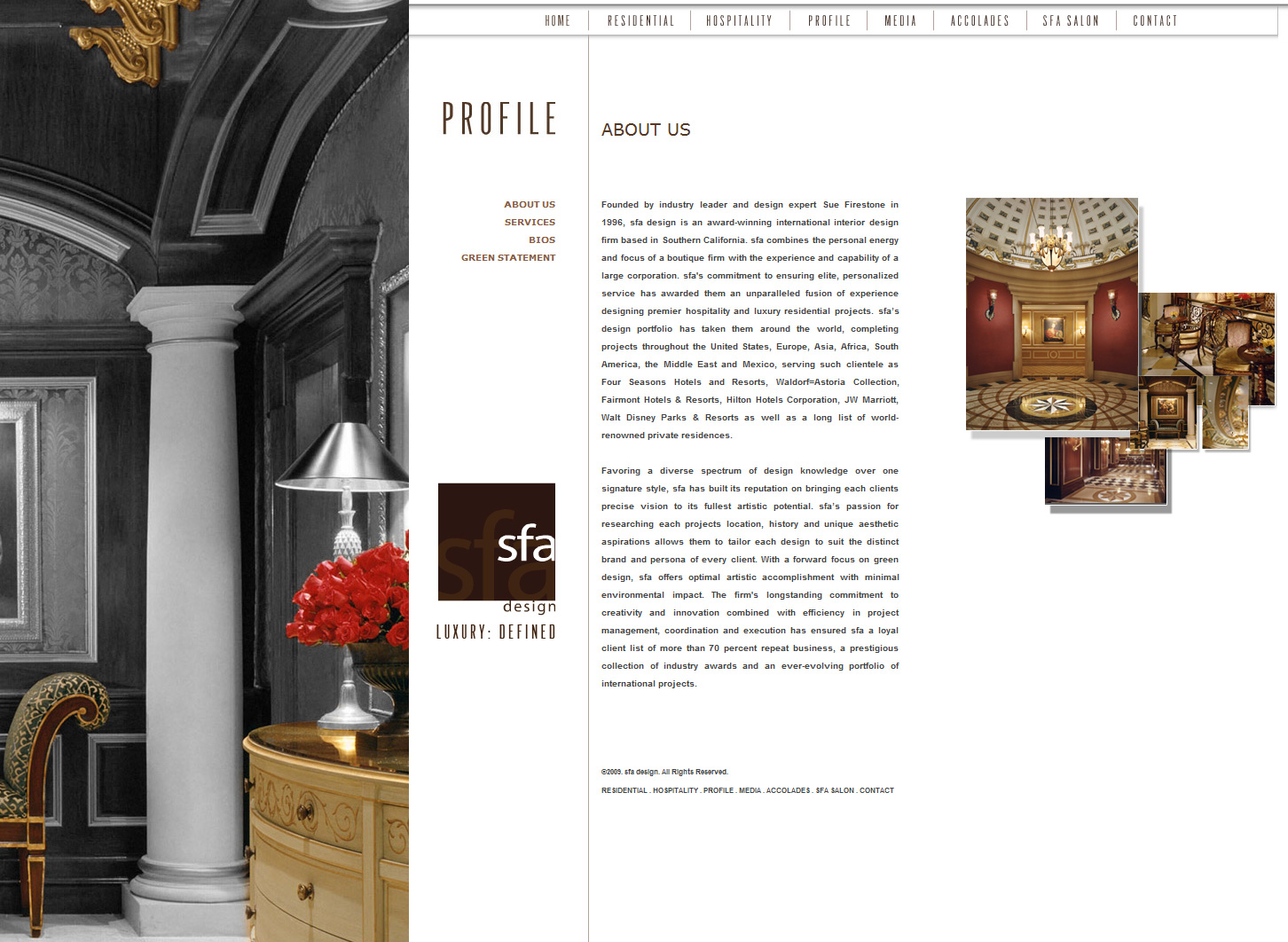 Web design experts for interior designers vivid candi for Websites for interior designers