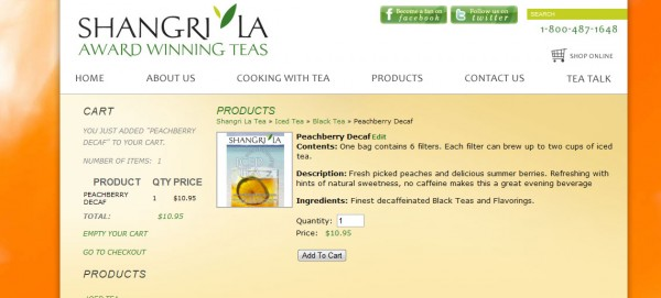 shangri-la tea website