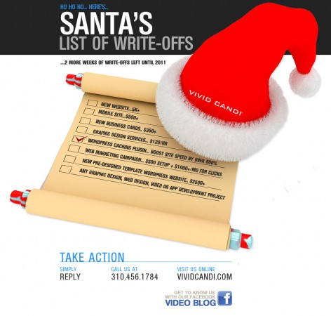 santa write off vivid candi graphic design