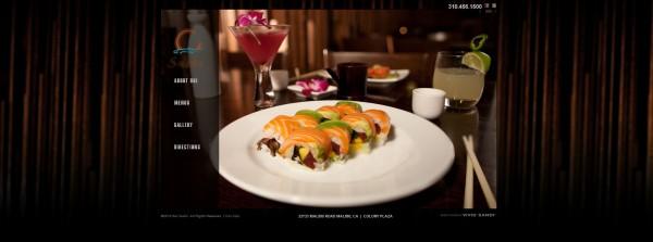 Sushi Restaurant Web Design Los Angeles Web Designer