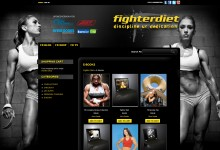 fighterdiet ecommerce website