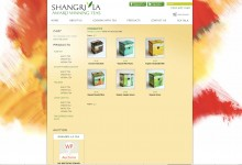 ShangriLa Iced Tea Wp Ecommerce Website Example