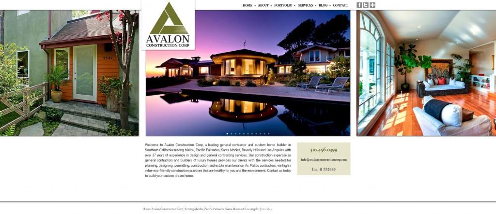 avalon construction corporation website