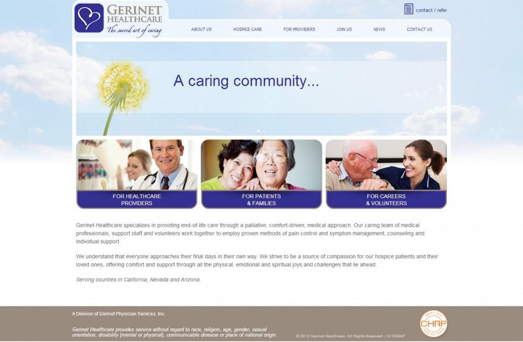 gerinet healthcare website