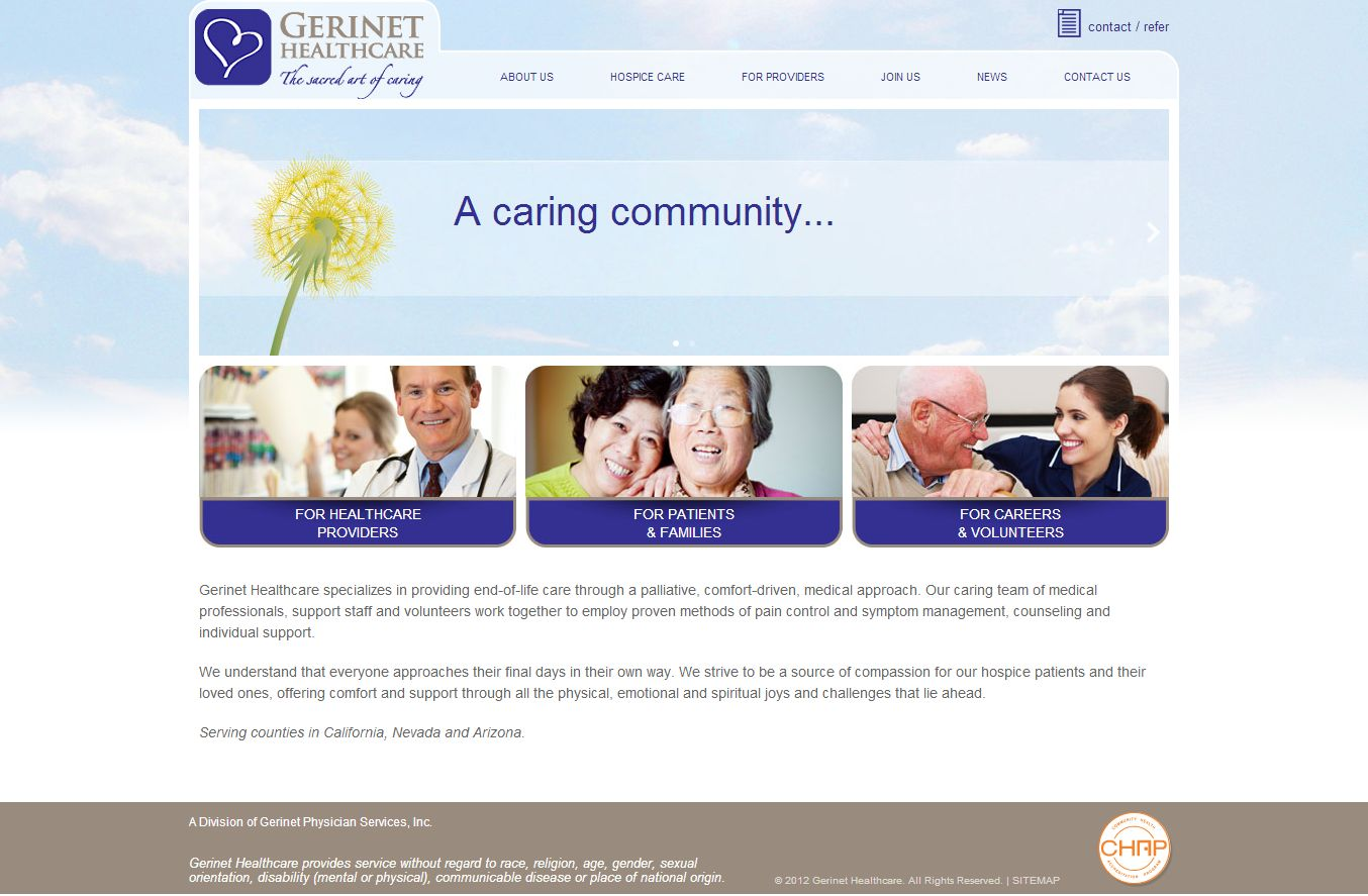 gerinet healthcare website