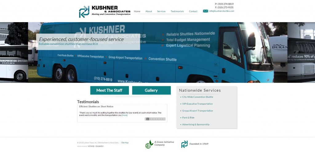 kushner shuttles website