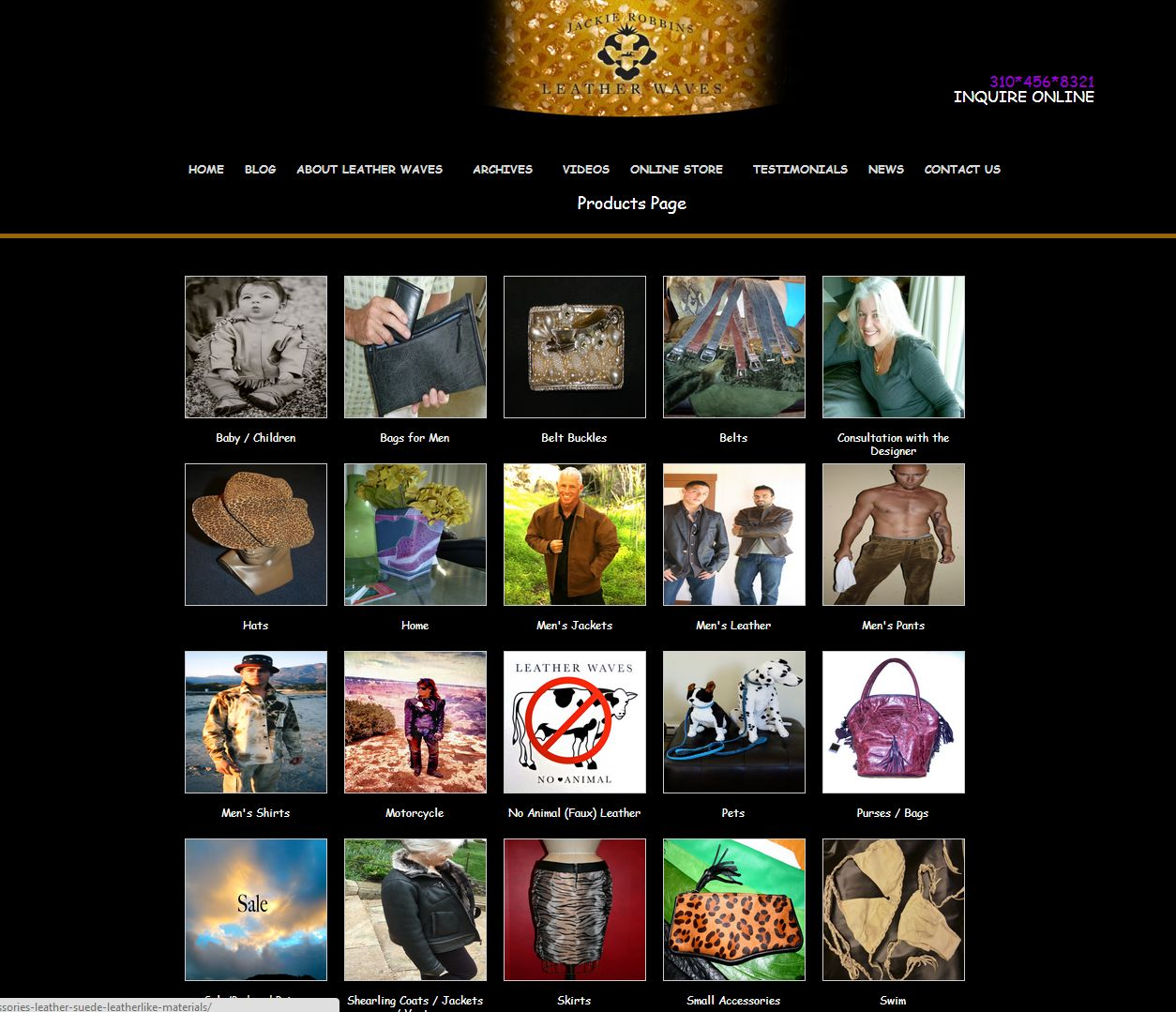 leather website