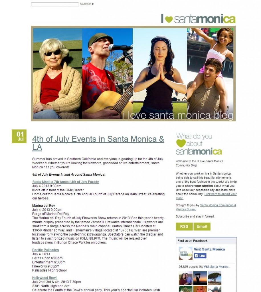 love santa monica blog