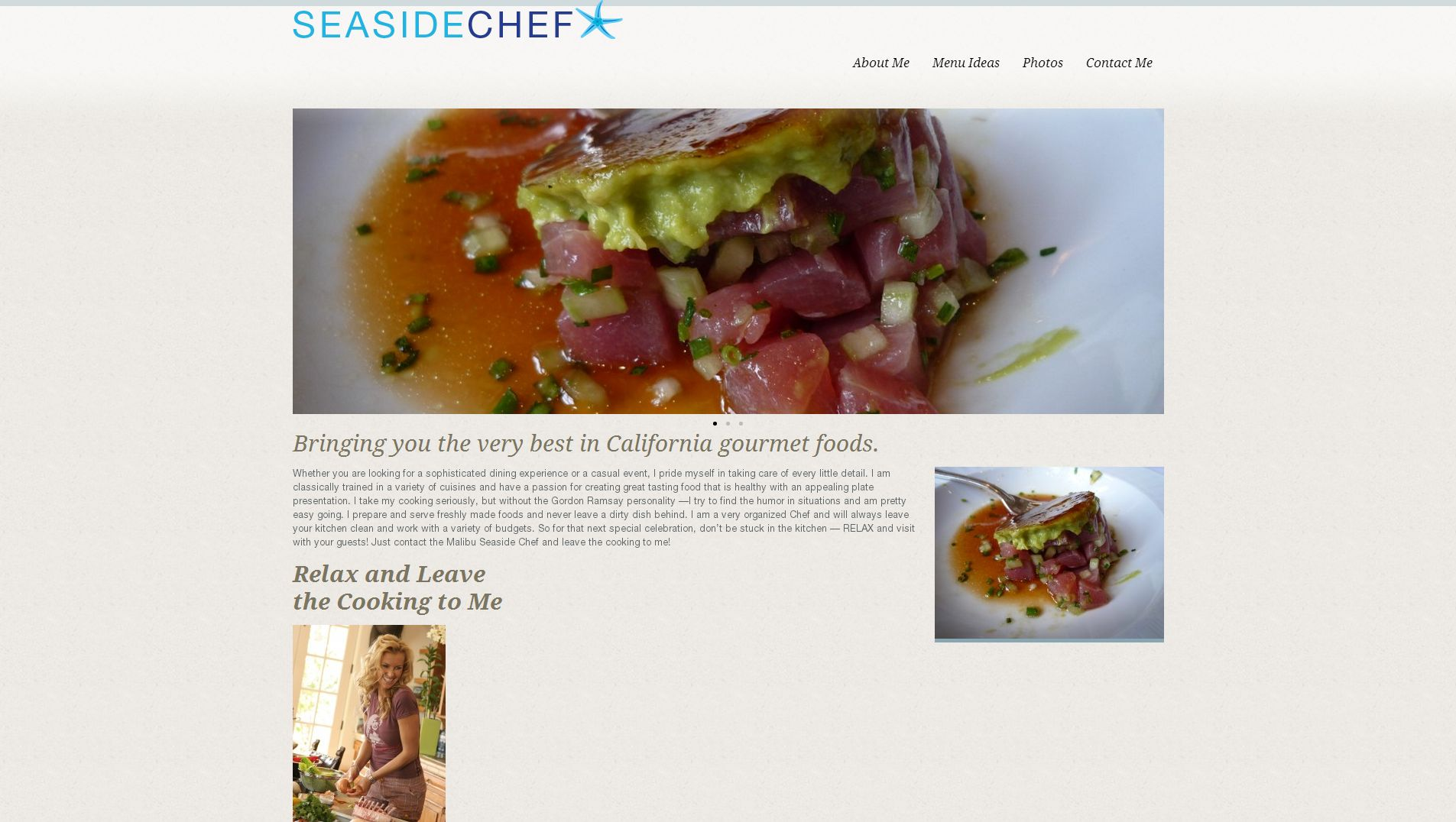malibu seaside chef website