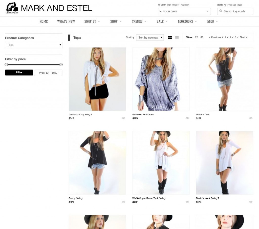 mark and estel store website