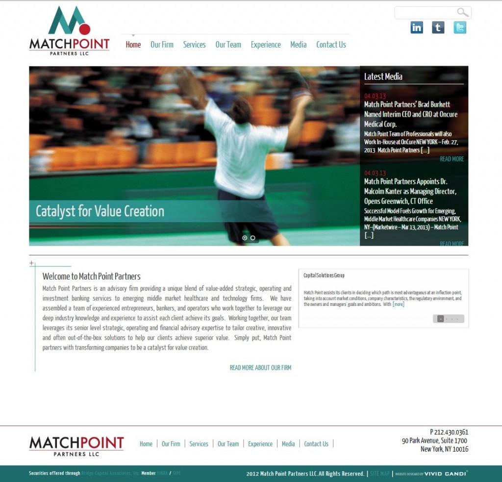 match point partners website