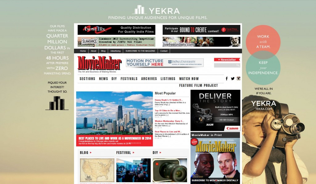 movie maker magazine website
