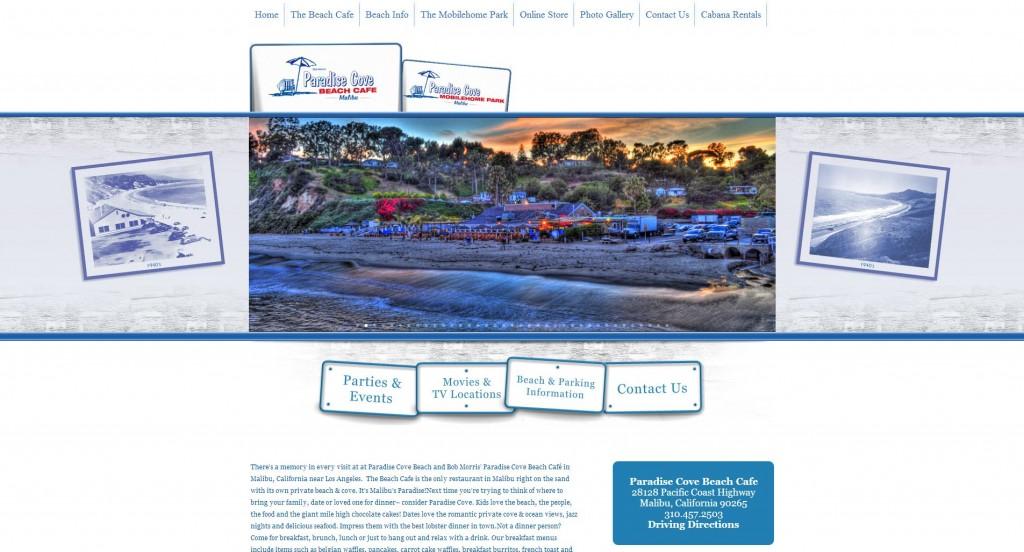 paradise cove website