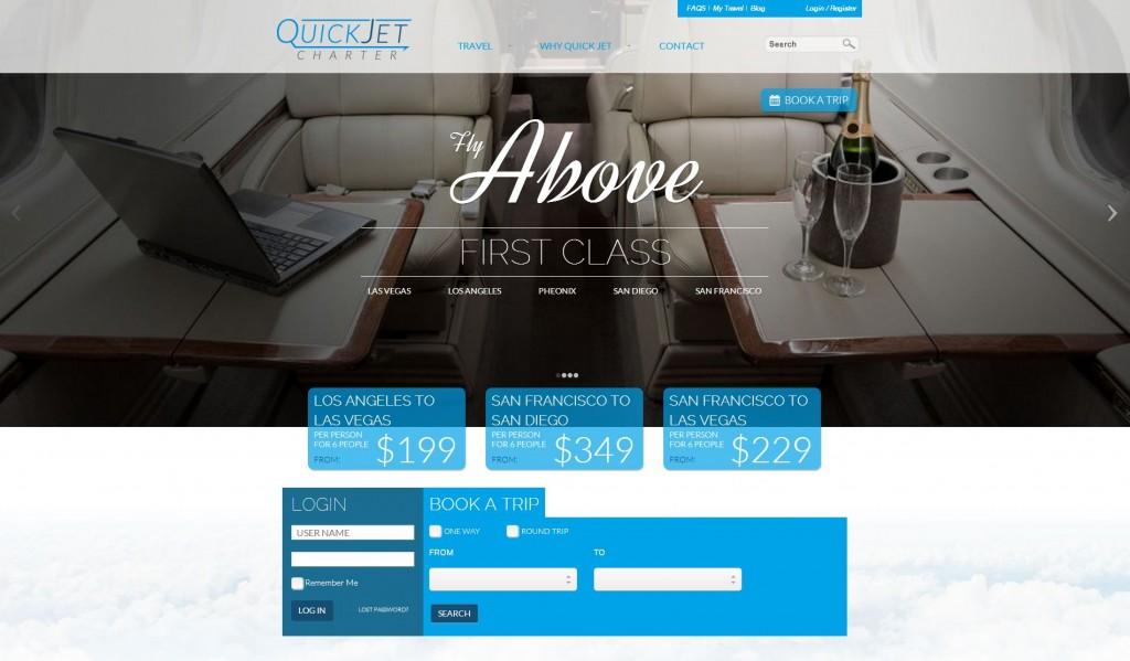 quick jet charter website