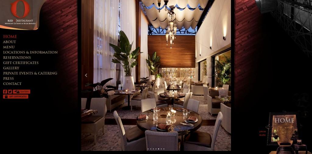 red o restaurant website