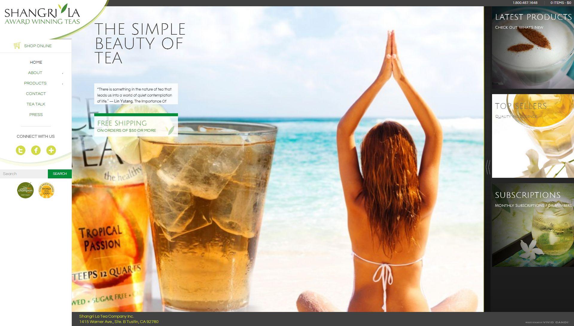 shangrila iced tea website