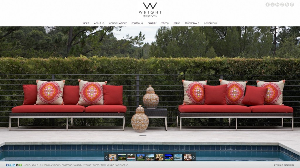 wright interiors website