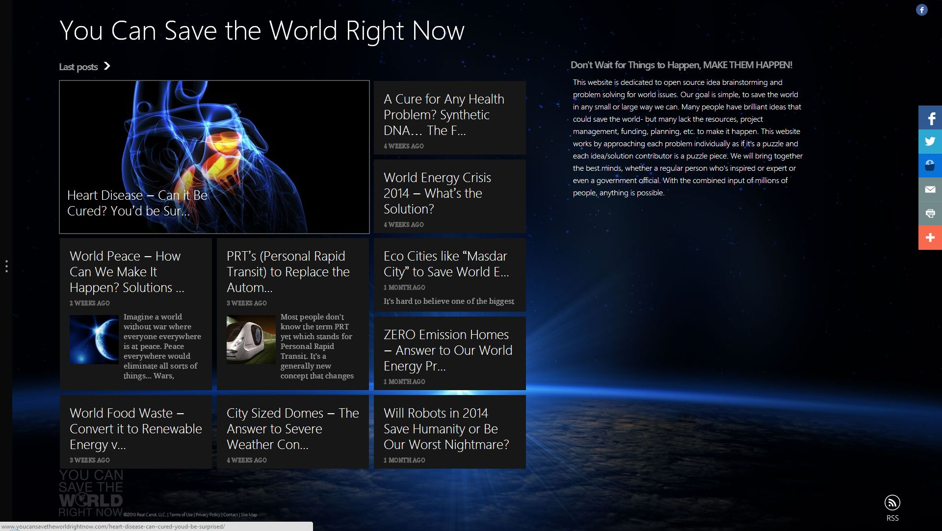 you can save the world right now website