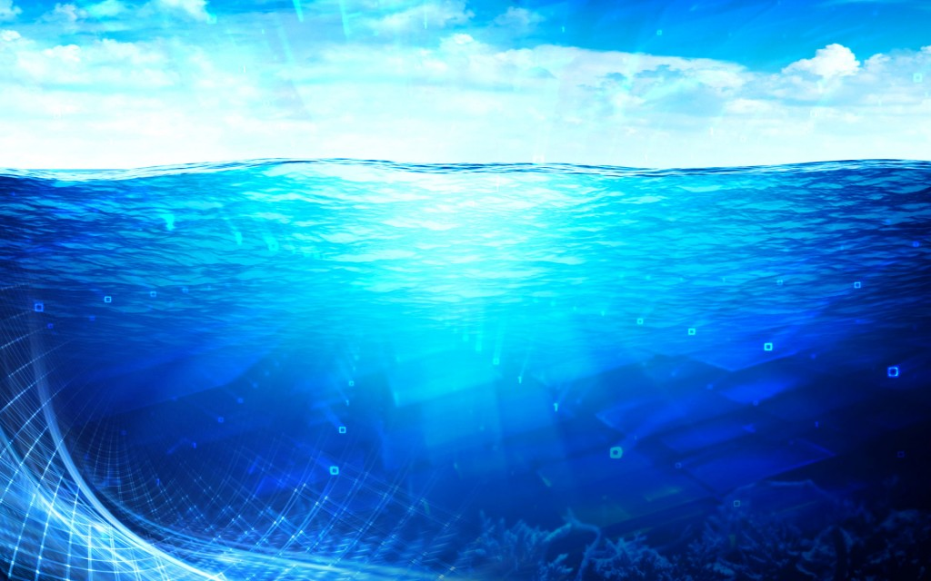 vivid ocean of code