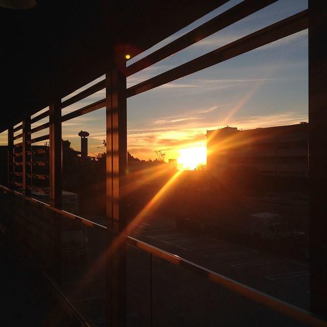 A vivid sunrise.