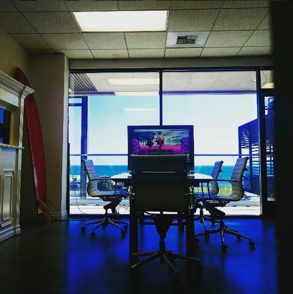 Our work environment is ocean inspired.